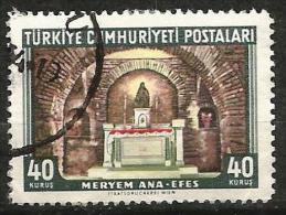 Turkey 1962 - Mi. 1847 O, Historical Monuments, Statue Of Mary   Virgin Mary's House At Ephesus   Panaya Kapulu - 1921-... Republik