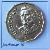 MONEDA URUGUAY 1 PESO 1978 - IMAGEN GENERAL ARTIGAS - Uruguay