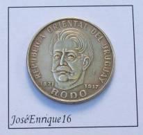 URUGUAY 1971 - 50 PESOS - HOMENAJE A JOSE ENRIQUE RODO 1871 - 1917 - Uruguay