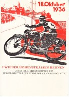 AUSTRIA   OFFICIAL CARD MOTOCYCLE RACE 1936 - 1918-1945 1st Republic