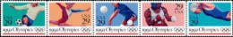 1992 USA Summer Olympics Stamps Sc#2637-41 2641a Soccer Gymnastics Volleyball Boxing Swimming - Gymnastics