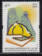 India MNH 2002, Directorate General Of Mines Safety, Hand, Helmet, Health, Mineral, Mine Winding Gears, - India