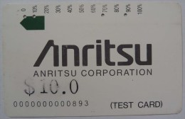 AUSTRALIA - Anritsu Test - Type 2 - $10 - First Print - Used