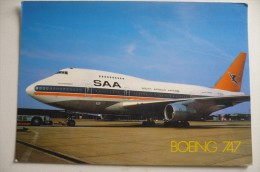 CARTE GRAND FORMAT / MAXI CARTE    SOUTH AFRICAN  B 747 SP - 1946-....: Era Moderna