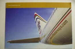 CARTE GRAND FORMAT / MAXI CARTE    ETIHAD AIRWAYS   AIRLINE ISSUE - 1946-....: Era Moderna