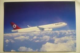 CARTE GRAND FORMAT / MAXI CARTE       TURKISH  TURK HAVA YOLLARI  A 340 300   AIRLINE ISSUE - 1946-....: Era Moderna