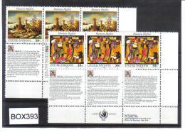BOX393  VEREINTE NATIONEN UNO NEW YORK 1993  Michl 651/52  2 SECHSERBLÖCKE ** - New York -  VN Hauptquartier