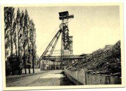 Monceau-sur-Sambre - Charbonnages de Monceau- Fontaine - Si�ge n� 25 - Entr�e du si�ge et chassis � molettes