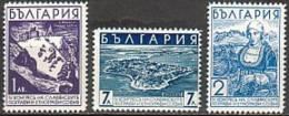 BULGARIA \ BULGARIE - 1936 - 4 Congres Des Geographes Et Ethnographes Slaves A Sofia - 3v** - 1909-45 Royaume