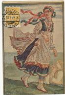 Latvian National Dresses Rucava Courland Edit J. Rieksts Riga Stamp Lelgawa - Lettonie