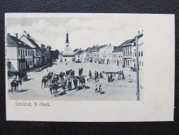 AK GMÜND Platz M.Pferden 1900 // D*15253 - Gmünd