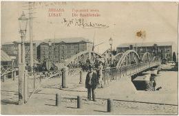 Libau Die Stadtbrucke P. Used Russian Stamps Edit Dembo  1905 Petrol Lamp - Lettonie
