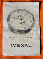 Brochure Calendrier-Réveil IMEXAL N° 240 En Trois Langues - Jewels & Clocks