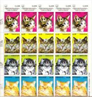 CATS-PARAGUAY,COMPLETE SHEET,MNH - Gatti