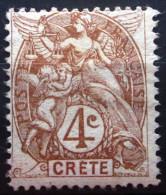 CRETE               N° 4                NEUF* - Creta (1902-1903)
