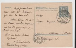 WGA349/ Doppelkarte, Vienenburg Nach Mailand (Mi.Nr. 159) - Briefe U. Dokumente
