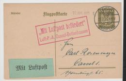 WGA351/ Mi.Nr. P 155 Per Luftpost Leipzig - Kassel 12.8.25 - Deutschland