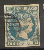 Espagne _ Isabelle II non dentel�-n�21-  1853
