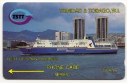 TRINIDAD & TOBAGO CARAIBES MC Cards T&T-3A PORT OF SPAIN HARBOUR 15$ CN 3CTTA - Trinité & Tobago