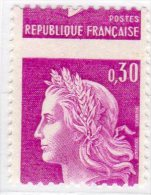 MARIANNE DE CHEFFER - 0,30F Lilas (N° 1535**) Impression à Sec - 1967-70 Marianne Of Cheffer