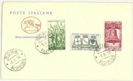 FILATELIA - ANNO 1958 - FDC FIRST DAY COVER - CAVALLINO - 60° ANNIVERSARIO VITTORIA  - FOTO CAMPIONE - FDC