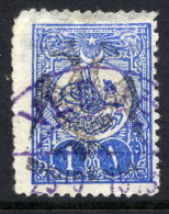 ALBANIA 1913 Eagle Handstamp On 1 Piastre Of Turkey Used, Signed Rommerskirchen.  Michel 7 - Albania