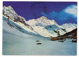 Népal--Mt Annapurna South And Sanctuary ,cpm N° 91 éd Cottage Industries--beaux Timbres Au Verso - Nepal