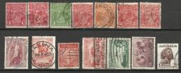 Australie, lot de timbres,