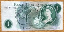 Used One Pound GB Banknote-Holman No BK-977 - 1952-… : Elizabeth II