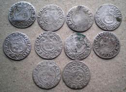 Super Lot 10 Silver  Medieval Coins, Poland 1,5 Gros(dreipolker)1620-1627 Years - Polen