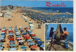 RIVABELLA Di Rimini - Panorama Della Spiaggia - Rimini
