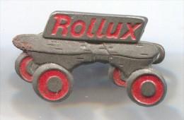 ROLLUX - Skating, Roller Skates, Vintage Pin  Badge - Patinage Artistique