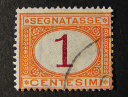 "(D)ITALIA Regno Segnatasse-1870- ""Cifra"" C. 1 US° (descrizione) - 1861-78 Vittorio Emanuele II"