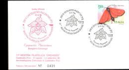 31-8-1996 ANNULLO SPECIALE 11� MOSTRA FILATELICA TEMATICA ORCHIDEE 29010 CASTELVETRO PIACENZA SU BUSTA UFFICIALE 431