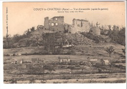 Coucy-le-Château (Auffrique-Laon-Aisne)Vue D'ensemble Après La Guerre De 1914-1918-Chateau De Coucy Après Sa Destruction - Laon