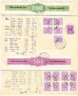 Österreich - Verrechnungsmarke Für Geldanweisung Nr. 1 (x4) Und Nr. 3 Mit 33 Portomarken Auf 1953 Beleg - Portomarken