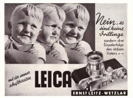 Original Werbung - 1941 - LEICA Camera Von Ernst Leitz In Wetzlar !!! - Cameras