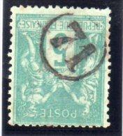 "N° 75 . TYPE SAGE . JOUR DE L´ AN . CHIFFRE "" 71 "" .  DANS UN CERCLE . PLI . - 1877-1920: Semi Modern Period"
