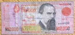 1989 Used 2000 N$ Uruguay Banknote No BK-999 - Uruguay