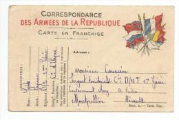 Correspondance Des Armées De La Republique Carte En Franchise Expédiée Par Un Légionnaire A MONTPELLIER-HERAULT - Montpellier