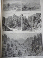 Egypte , Projet De Chemin De Fer Entre Souakim Et Berber , Ariab, Kokreb, Haratri, Wady Yumga , Gravure De 1885 - Historical Documents