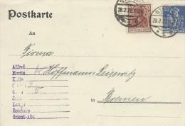 Postkarte   Used 1922.   H-144 - Germany