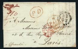 GRANDE BRETAGNE - LETTRE EN PD DE BIRMIMGHAM POUR PARIS 1845   A VOIR POUR ETUDE    LOT P2227 - ...-1840 Préphilatélie