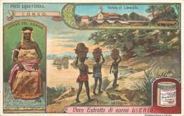 CHROMO LIEBIG - Paesi Equatoriali - Congo - Veduta Di Libreville - Série Italienne N°1054 - Année 1912 - Liebig