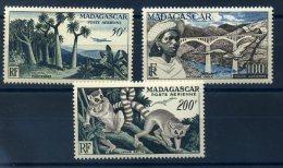 MADAGASCAR 1954 N� 75/ 77 ** MNH (sans charni�re)