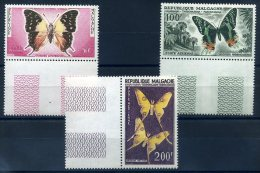 MADAGASCAR 1960 N� 80/ 82 THEME PAPILLONS ** MNH (sans charni�re)