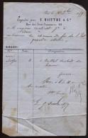 Paris - E. Riittre & Cie, 42 Rue Des Trois Couronnes - 1859 - 1800 – 1899