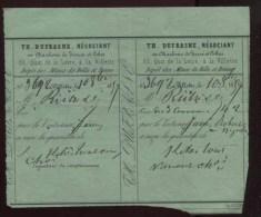Paris - Th. Dufrasne - Négociant En Charbons De Terres Et Cokes, 82 Quai De Loire à La Villette - 1859 - France