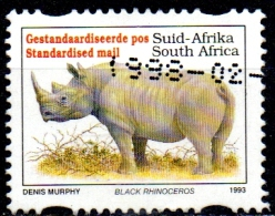 SOUTH AFRICA 1993 Endangered Fauna - (-) - Black Rhinoceros (English Name) FU - Used Stamps