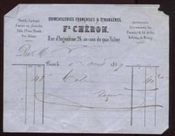 Paris - F. Chéron - Quincailleries Françaises Et étrangères - 1859 - 1800 – 1899